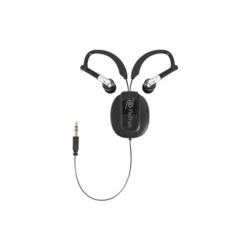 Green Armband Retractable Sports Wrap Earbuds