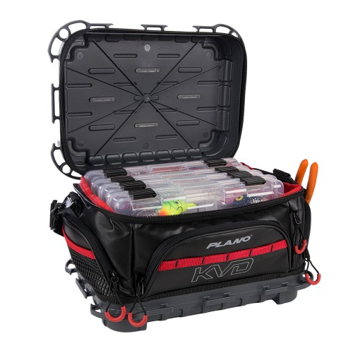 Plano KVD Signature Tackle Bag 3600 - Black/Grey/Red