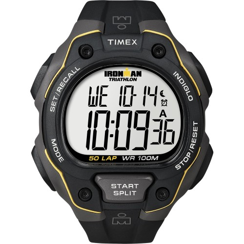 Timex Ironman 50 Lap Watch - Black/Yellow