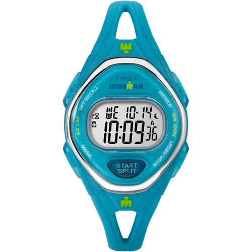 Timex IRONMAN� Sleek 50 Mid-Size Silicone Watch - Turquoise