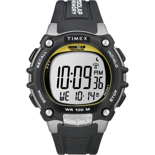 Timex Ironman Traditional 100-Lap - Black/Silver/Yellow Watch