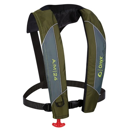 Onyx A/M-24 Automatic/Manual Inflatable PFD Life Jacket - Green