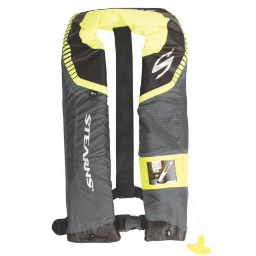 Stearns C-Tek 24G A/M Inflatable Life Vest - Gray/Yellow