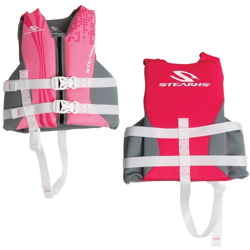 Stearns Child Hydroprene Vest Life Jacket - 30-50lbs - Pink