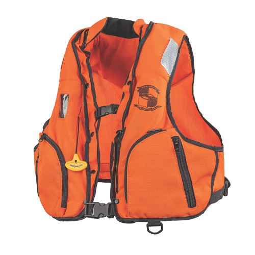 Stearns Manual Inflatable Vest w/Nomex Fabric - Orange/Black - L/XL