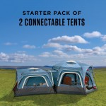 Coleman 3-Person and 6-Person Connectable Tent Bundle with Fast Pitch Setup - Set Of 2 - Blue