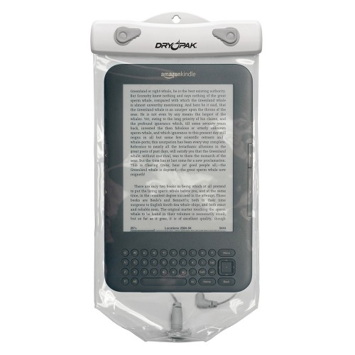 """Dry Pak Clear Tablet Case f/Kindle White/Grey - 6"""" x 10"""""""