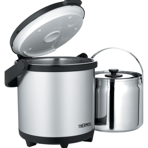 Thermos Cook and Carry System - Stainless Steel/Black - 4.7 Qt