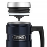 Thermos Stainless King Vacuum Insulated Travel Mug - 16 Oz. - Stainless Steel/Midnight Blue