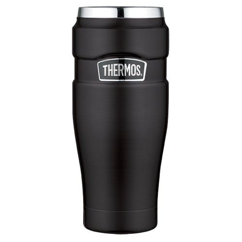 Thermos Stainless King Vacuum Insulated Travel Tumbler - 16 oz. - Stainless Steel/Matte Black