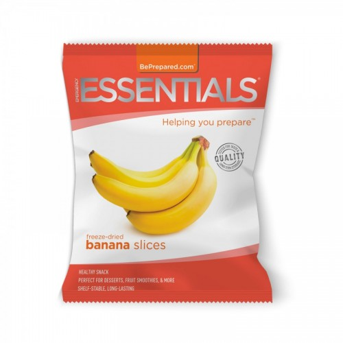 Emergency Essentials Freeze-Dried 10-Serving Banana Slices Pouch