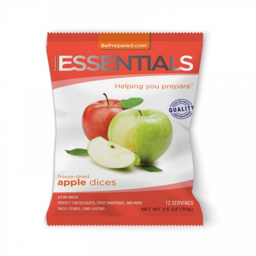 Emergency Essentials Freeze-Dried 12 Serving Apple Dices Pouch