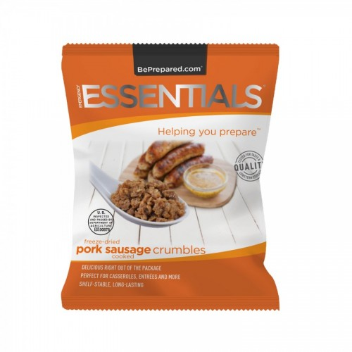 Emergency Essentials Freeze-Dried 4 Serving Sausage Crumbles Pouch