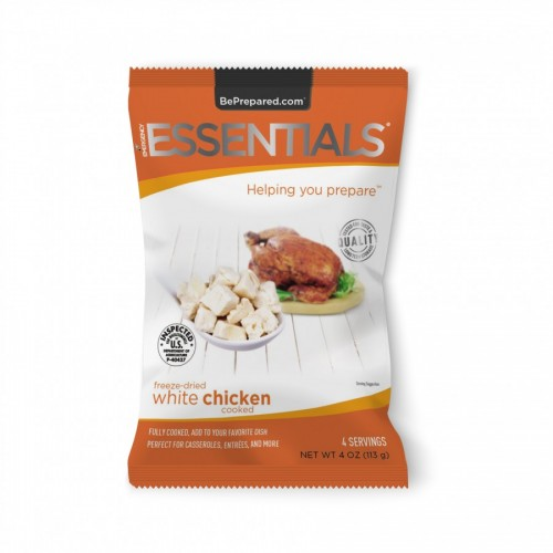 Emergency Essentials Freeze-Dried 4 Serving White Chicken Dices Pouch