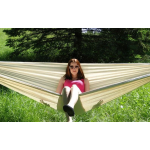 Brazilian Style Double Hammock with Bamboo Stand