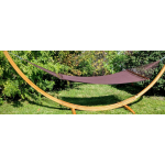 Deluxe Polyester Rope Hammock with Bamboo Stand