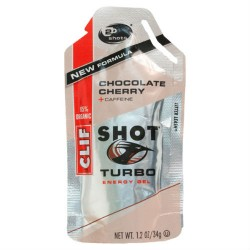 Clif Shot, 24 Count Box, Chocolate Cherry Turbo Gel
