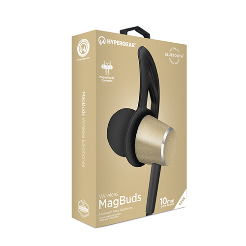 HyperGear Wireless MagBuds Earphones, Gold
