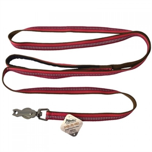 Coastal Pet Products K9 Explorer Reflective Leash with Scissor Snap Berry Red