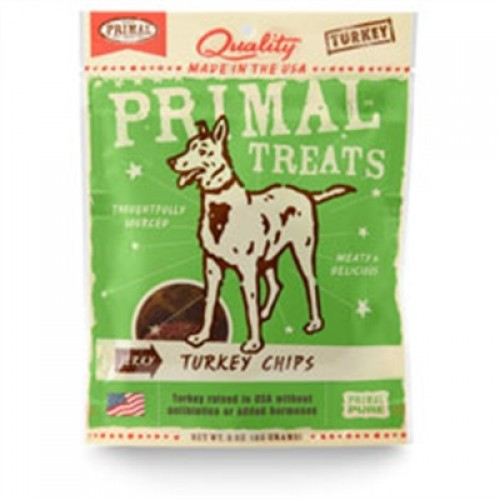Primal Jerky Turkey Chips Dog Treats 3 oz